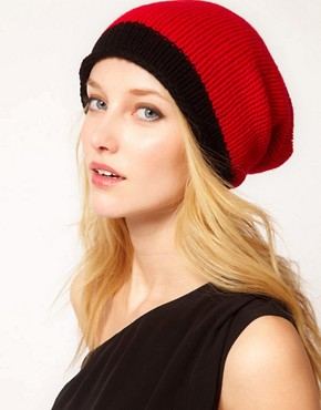 Image 3 ofUnconditional Hanknit Long Cap with 1 Wide Stripe Hat