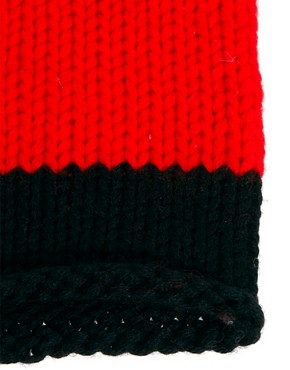 Image 4 ofUnconditional Hanknit Long Cap with 1 Wide Stripe Hat
