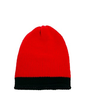 Image 1 ofUnconditional Hanknit Long Cap with 1 Wide Stripe Hat