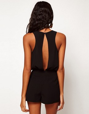 Image 2 ofASOS Playsuit with Studded Shorts
