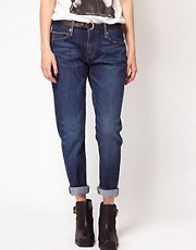 Levi&#39;s - Boyfriend jeans skinny al polpaccio con cimosa
