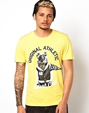 Puma T- Shirt with Varsity Animal Print