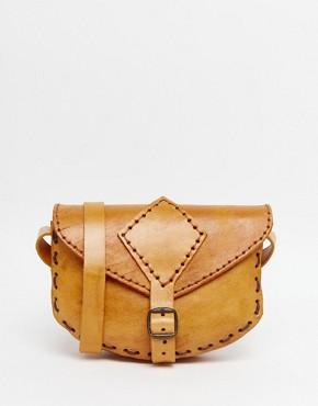 Hiptipico Handmade Coloured Leather Saddle Bag