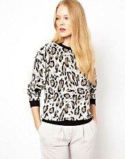 Selected Leo Animal Print Top
