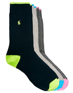 Image 1 ofPolo Ralph Lauren 3 Pack Polo Player Socks