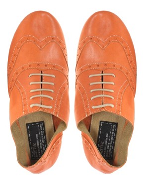 Image 3 ofBertie Lyon Lace Up Flat Shoes