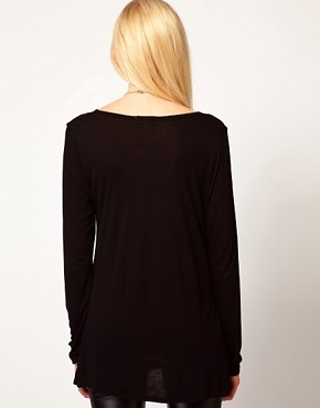 Image 2 ofLnA T-Shirt With Zip Detail