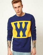 WESC Crew Sweatshirt Franchise W Logo