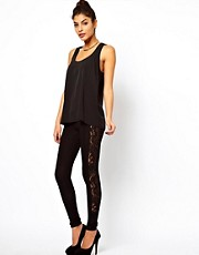 ASOS Leggings with Lace Panel