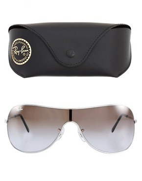 Image 2 ofRay-Ban Silver Visor Sunglasses