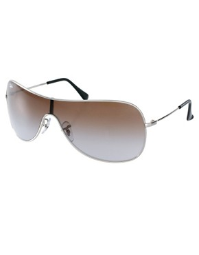 Image 1 ofRay-Ban Silver Visor Sunglasses