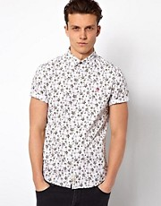 Camisa con estampado de fuentes de Original Penguin