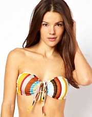 Paul Smith Swirl Print Keyhole Bandeau Bikini Top