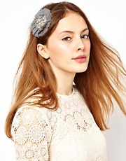 Orelia Head Band with Diamante Flower