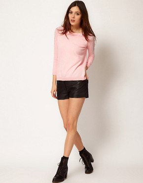 Image 4 ofRiver Island Shoulder Stud Jumper