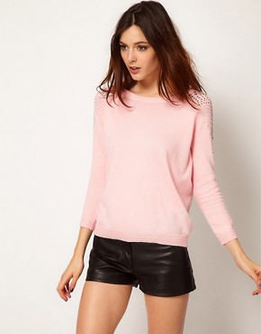 Image 1 ofRiver Island Shoulder Stud Jumper