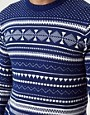 Image 3 ofShades of Grey Jumper with Fairisle Print