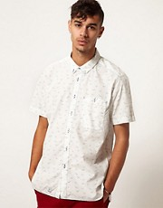 Addict Shirt Seagull Short Sleeve Button Down
