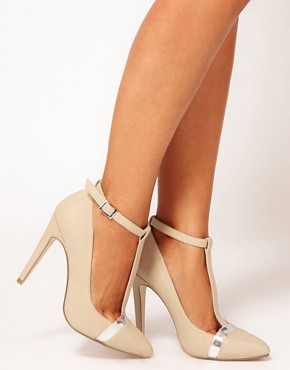 Image 3 of ASOS PROMOTE Pointed High Heels with T-Bar