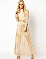 Coco&#39;s Fortune Lurex Maxi Dress