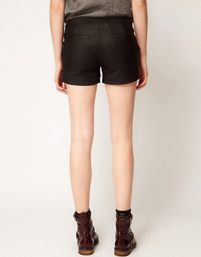 Image 2 ofVila Leather Look Shorts