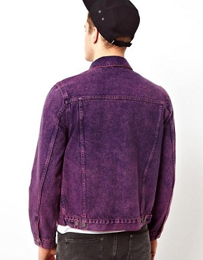 Image 2 ofASOS Denim Jacket With Acid Wash