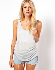 ASOS Premium Silk Mix Scoop Vest