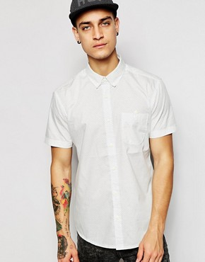 Silver Eight Dot Print Short Sleeve Shirt