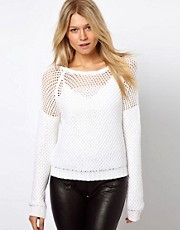 Vila Open Weave Sweater
