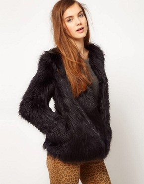 Image 1 ofPepe Jeans Fur Coat