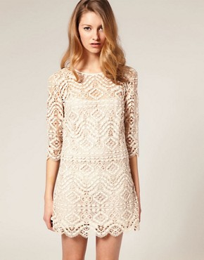 Image 1 of ASOS SALON Lace Shift Dress
