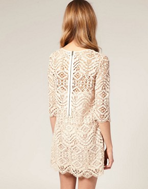 Image 2 of ASOS SALON Lace Shift Dress