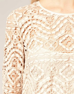 Image 3 ofASOS SALON Lace Shift Dress
