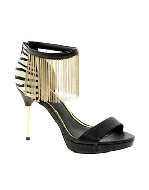 Image 1 ofRiver Island Tassle Ankle Stilettos