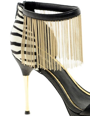 Image 2 ofRiver Island Tassle Ankle Stilettos