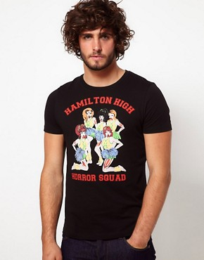 Image 1 ofASOS T-Shirt With Zombie Cheerleader Print