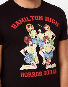 Image 3 ofASOS T-Shirt With Zombie Cheerleader Print