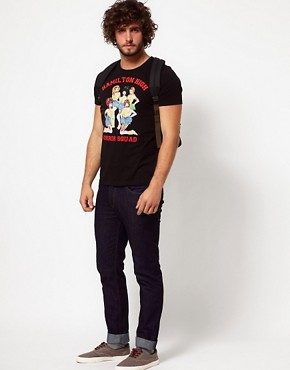 Image 4 ofASOS T-Shirt With Zombie Cheerleader Print