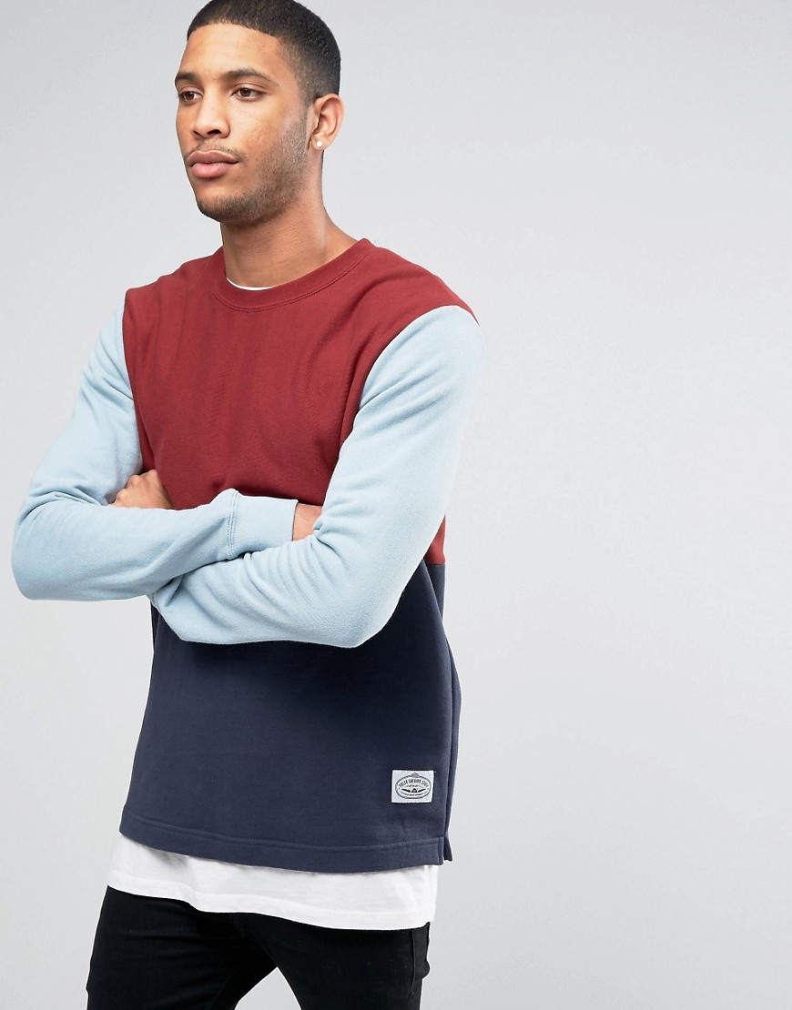 poler-sweatshirt-with-colour-block-red