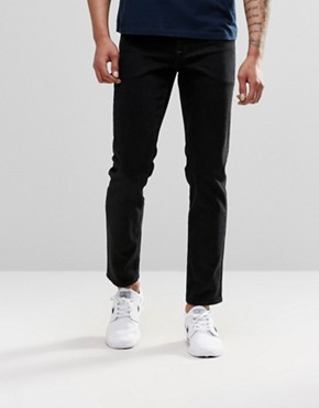 ASOS Stretch Slim Jeans In 12.5oz In True Black