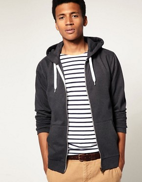 Image 1 ofASOS Zip-Through Hoodie