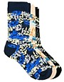 Image 1 ofUrban Eccentric 3 Pack Digital Camo Socks