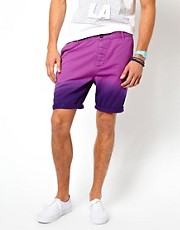 ASOS Chino Shorts With Dip Dye