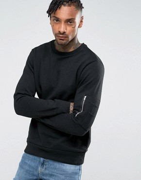Brave Soul Crew Neck Military Jumper