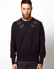 YMC Sweatshirt with Floral Embroidery