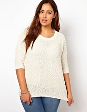 New Look Inspire Popcorn Sweater