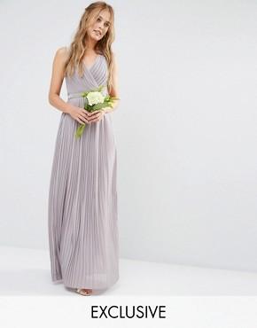 TFNC WEDDING Pleated Embellished Maxi Dress