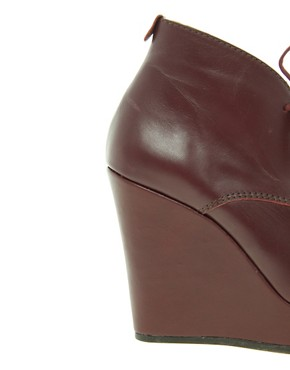 Image 3 ofTed Baker Elkma Red Wedge Ankle Boots
