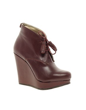 Image 1 ofTed Baker Elkma Red Wedge Ankle Boots