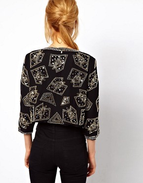Image 2 ofASOS Cropped Trophy Jacket